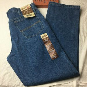 Wrangler 20X No 23 Relaxed Fit Blue Jeans Mens 35
